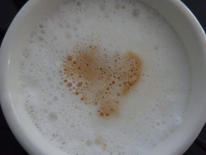 Het hartje in de koffie